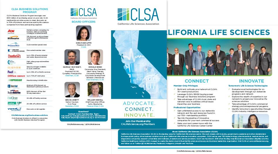CLSA Print Collateral Membership Brochure