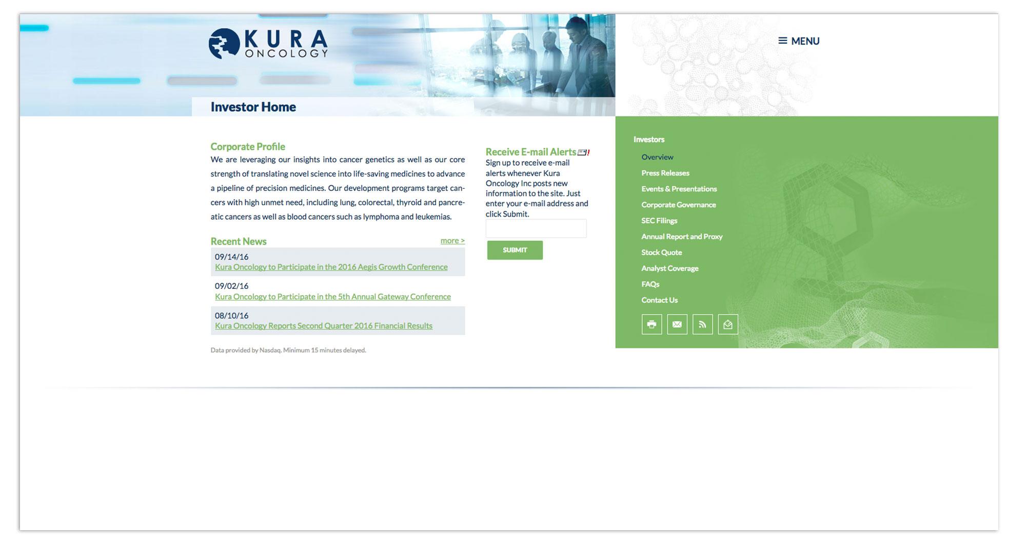 Kura Oncology Web Design Interior