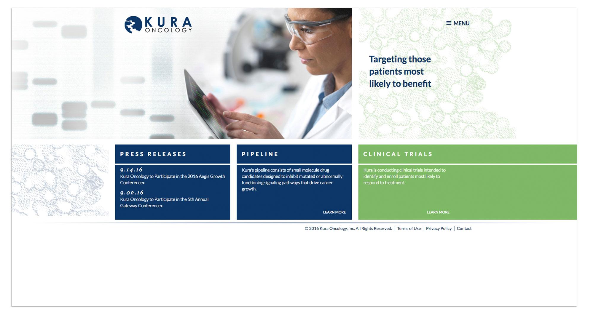 Kura Oncology Web Design
