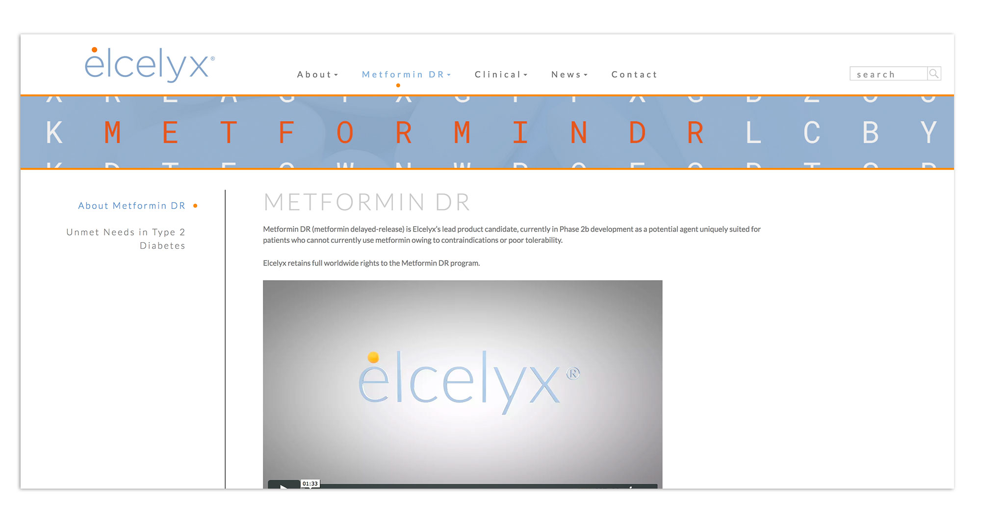 Elcelyx Pharmaceuticals Website