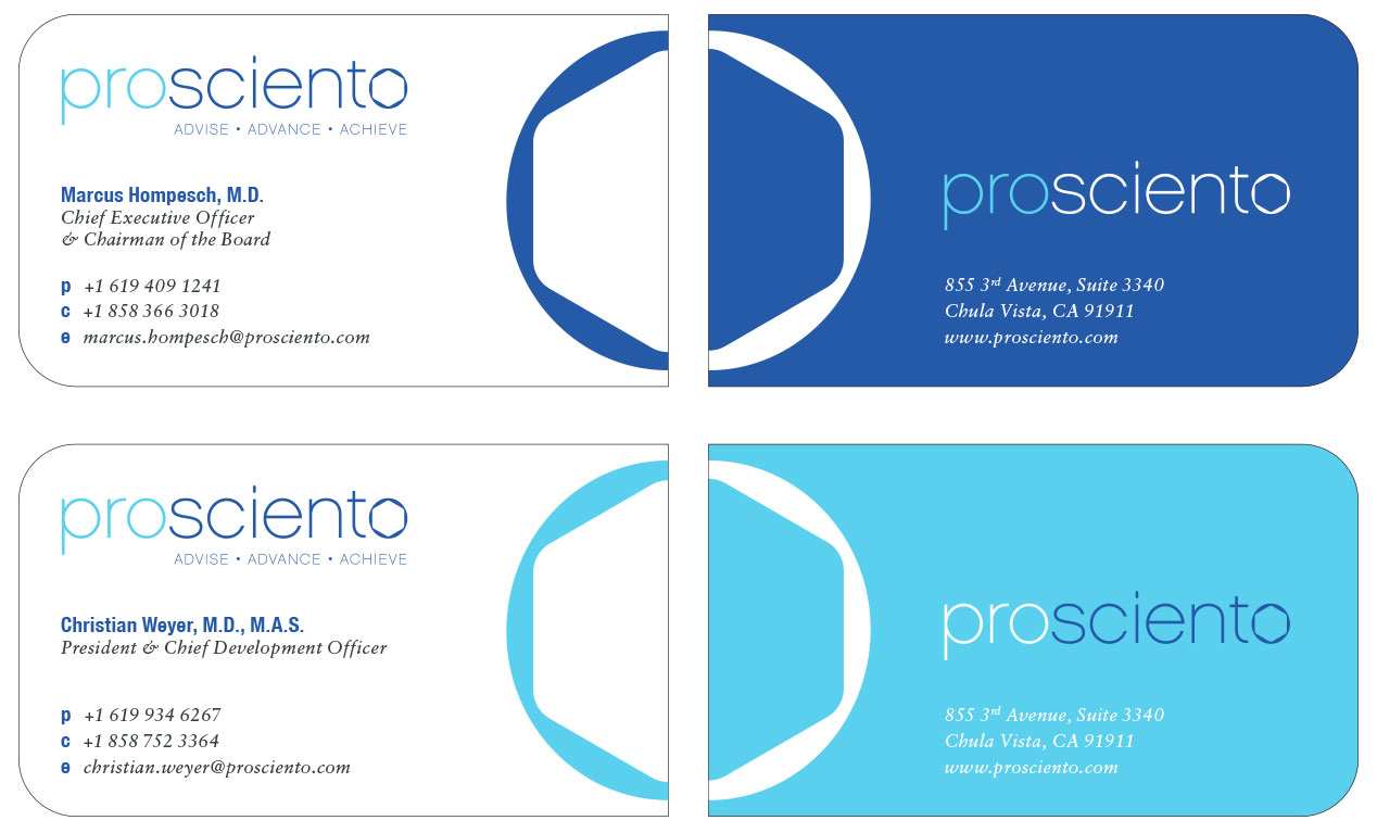 ProSciento Business Cards