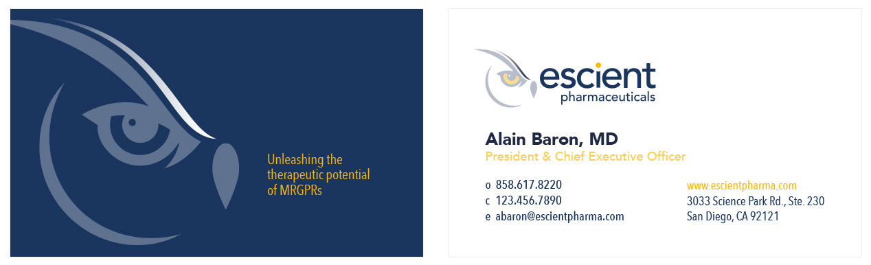 Escient Pharmaceuticals Cards